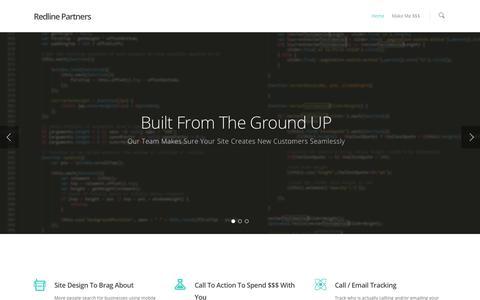 Screenshot of Home Page redlinepartners.net - Redline Partners - captured Aug. 14, 2015