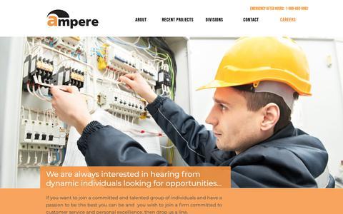 Screenshot of Jobs Page ampere.ca - careers - captured Nov. 12, 2018