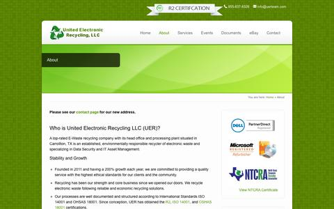Screenshot of About Page unitedelectronicrecycling.com - Professional E-Waste Recycling - United Electronic Recycling - captured Feb. 23, 2016