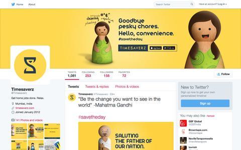 Screenshot of Twitter Page twitter.com - Timesaverz (@Timesaverz) | Twitter - captured Oct. 2, 2015
