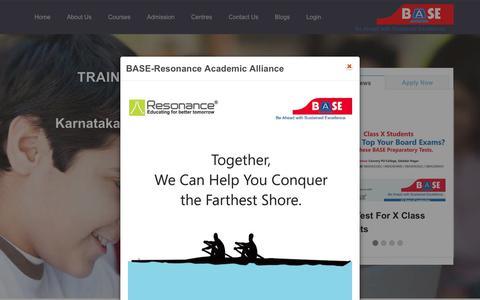 Screenshot of Home Page base-edu.in - BASE-Best Coaching Institute - captured Feb. 3, 2016