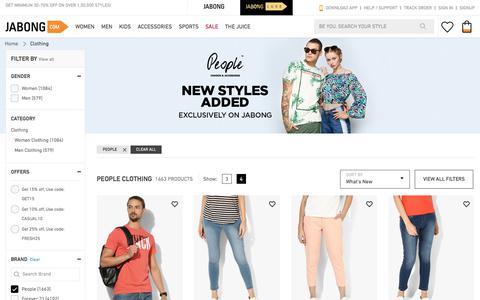 Screenshot of Team Page jabong.com - People Clothing - Buy People Clothing for Men, Women, Kids Online   Jabong.com - captured May 3, 2018