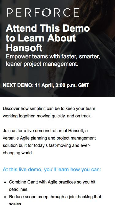 Hansoft Project Management Tool Demo