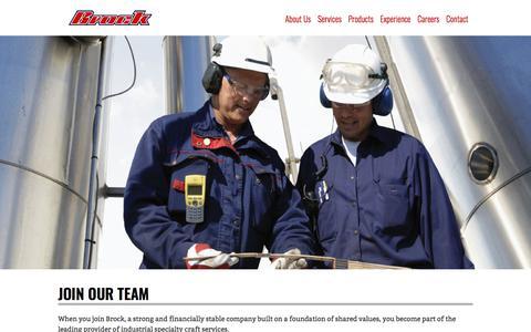 Screenshot of Jobs Page brockgroup.com - Careers - Brock Group - captured Sept. 21, 2018