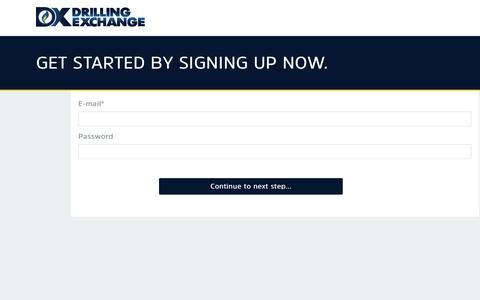 Screenshot of Signup Page drillingexchange.com - Sign Up for DX - captured Nov. 24, 2016