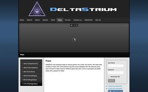 Screenshot of Maps & Directions Page deltastrium.com - Maps - captured Sept. 30, 2014