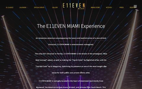 Screenshot of About Page Contact Page 11miami.com - About E11EVEN Miami | The Best Nightclub Downtown | Open 24/7 - captured July 7, 2017