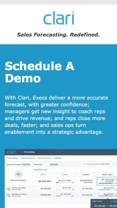 Clari - Schedule A Demo