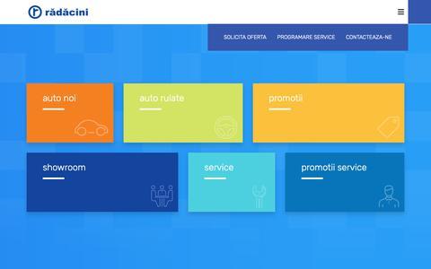 Screenshot of Home Page radacini.ro - Radacini Grup | Dealer Auto si Service Auto - captured Dec. 12, 2018