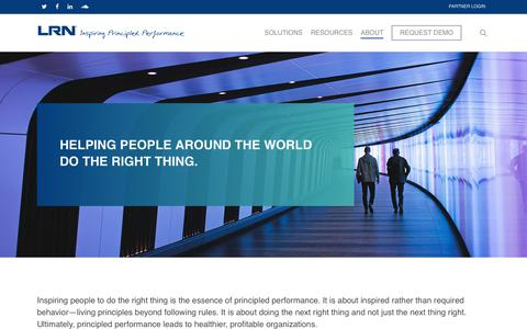 Screenshot of About Page lrn.com - About – LRN Corporation - captured July 21, 2019