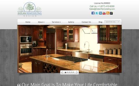 Screenshot of Home Page golanremodeling.com - Golan Remodeling Design California | California Remodeling - captured Sept. 30, 2014