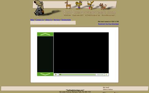 Screenshot of Testimonials Page topdogadvantage.com - Top Dog Advantage - captured Oct. 7, 2014