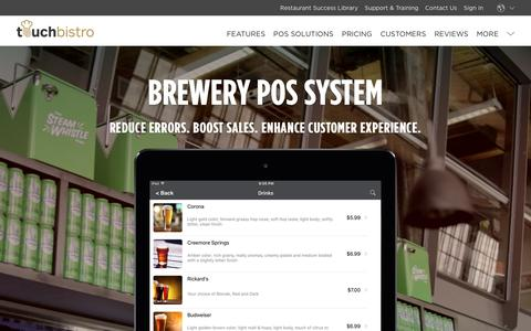 Brewery iPad POS System - TouchBistro: iPad Point of Sale (POS)