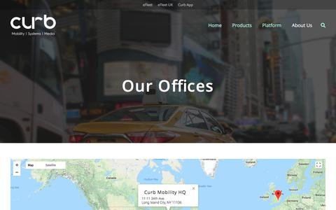 Screenshot of Locations Page gocurb.com - Locations - Curb Mobility - captured July 17, 2018