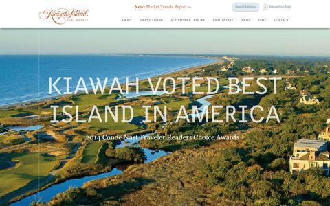 Screenshot of Home Page kiawahisland.com - Luxury, Beachfront Property Coastal Homes | Kiawah Island Real Estate - captured Oct. 20, 2015