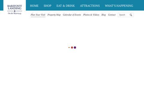 Screenshot of FAQ Page Hours Page bflanding.com - Barefoot Landing - captured Jan. 20, 2016