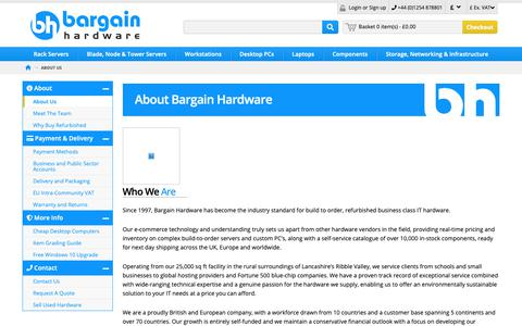 Screenshot of About Page bargainhardware.co.uk - About Us - Leaders in Refurbished Computers and Parts - captured Dec. 9, 2018