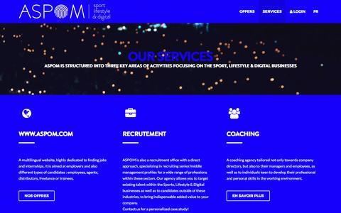 Screenshot of Services Page aspom.com - Services   ASPOM - captured May 10, 2017
