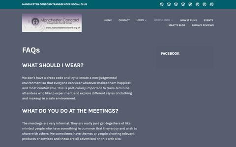 Screenshot of FAQ Page wordpress.com - FAQs - captured Dec. 3, 2018