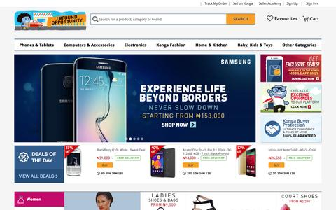 Screenshot of Home Page konga.com - Online Shopping | Phones, Fashion, Electronics | Konga Nigeria - captured Oct. 6, 2015