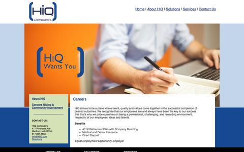Screenshot of Jobs Page hiq.com - HIQ: Careers - captured Aug. 4, 2017