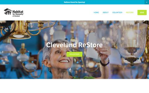 Screenshot of About Page habitatofcleveland.org - About | Habitat for Humanity Cleveland TN - captured Sept. 26, 2018