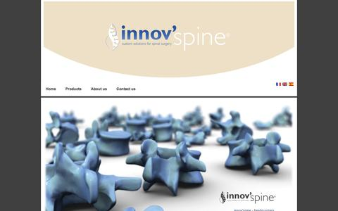 Screenshot of Contact Page innovspine.com - innov'spine - Contact - captured Jan. 9, 2016