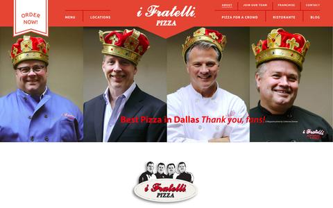 Screenshot of About Page ifratelli.net - About i Fratelli | i Fratelli Pizza - captured Jan. 18, 2016