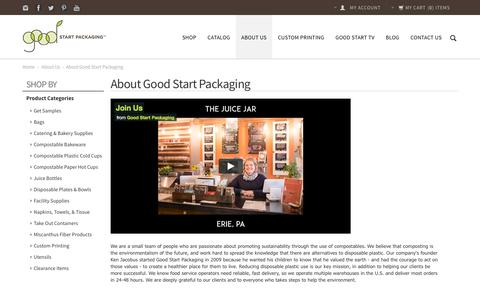 Screenshot of About Page goodstartpackaging.com - About Good Start Packaging - captured May 21, 2017
