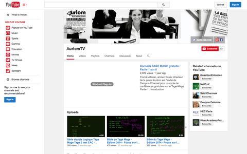 Screenshot of YouTube Page youtube.com - AurlomTV  - YouTube - captured Oct. 31, 2014
