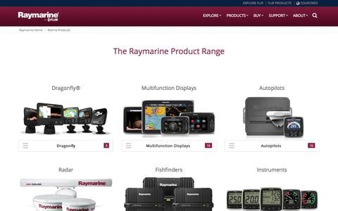 Screenshot of Products Page raymarine.com - Raymarine Products - captured Oct. 1, 2015