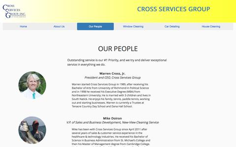Screenshot of Team Page crossservicesgroup.com - Cross Services - captured May 23, 2017