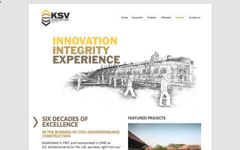 Screenshot of Jobs Page ksv.co.in - KSV Construction   Since 1948  » Careers - captured Oct. 16, 2017