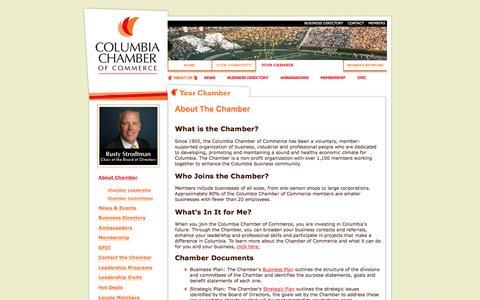 Screenshot of About Page columbiamochamber.com - Columbia Missouri Chamber of Commerce - captured Nov. 9, 2016