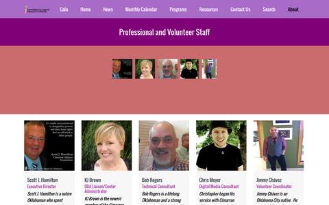 Screenshot of Team Page equalityokc.org - Cimarron Alliance | Our People - captured Oct. 2, 2014