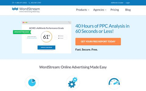 WordStream: Online Advertising Made Easy