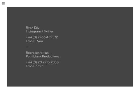 Screenshot of Contact Page ryanedy.com - Ryan Edy - Contact - captured March 1, 2016