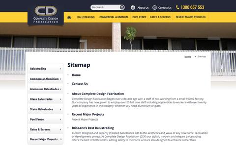 Screenshot of Site Map Page cdfabrication.com.au - Complete Design Fabrication - Sitemap - captured Oct. 2, 2014