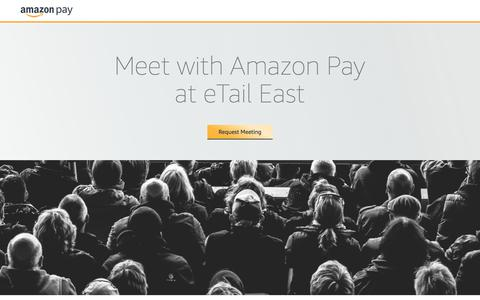 Screenshot of Landing Page amazon.com - Meet with Amazon Pay at - captured May 22, 2018