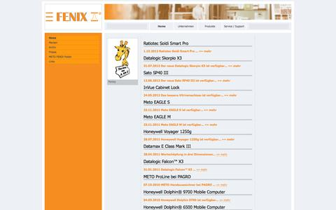 Screenshot of Press Page fenix.at - ..:: METO FENIX Handels GmbH ::..Tel.:+43(0)1 616 24 11,Fax:+43(0)1 616 27 07 - captured Oct. 3, 2014