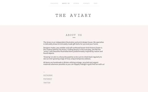 Screenshot of About Page the-aviary.co.uk - ABOUT US / The Aviary - captured Oct. 26, 2014