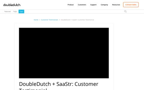 Screenshot of Testimonials Page doubledutch.me - DoubleDutch + SaaStr: Customer Testimonial - captured April 12, 2018