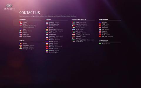 Screenshot of Contact Page infiniti.com - Contact Us - captured Sept. 19, 2014