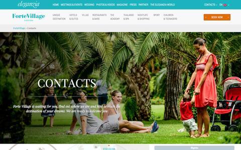 Screenshot of Contact Page fortevillageresort.com - Contacts - Forte Village Resort Sardinia - captured Sept. 24, 2014