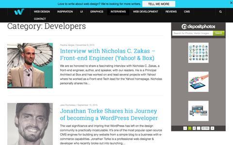 Screenshot of Developers Page webdesignledger.com - Developers - Web Design Ledger - captured Dec. 3, 2015
