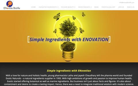 Screenshot of About Page enovatebiolife.com - About us | Enovate Biolife - captured Sept. 26, 2018