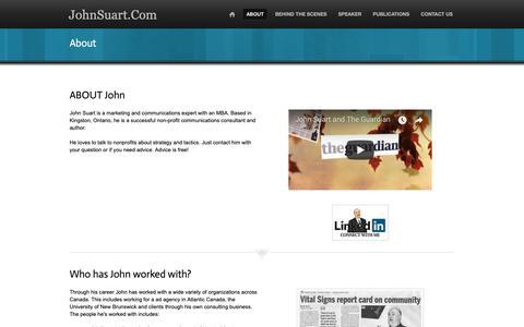 Screenshot of About Page johnsuart.com - About - JohnSuart.Com - captured Oct. 14, 2018