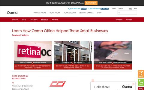 Screenshot of Case Studies Page ooma.com - Office - Case Studies - Free Home Phone Service | Ooma – Ranked # 1 Internet Home Phone Service - captured May 17, 2019