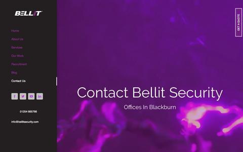 Screenshot of Contact Page bellitsecurity.com - Contact Us – Bellit Security - captured Oct. 10, 2017