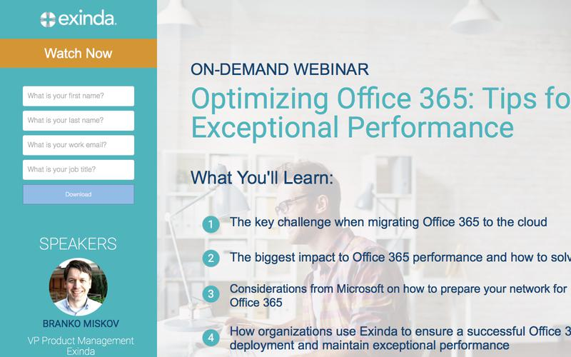 On-Demand Webinar: Optimizing Office 365 - Tips for Exceptional Performance